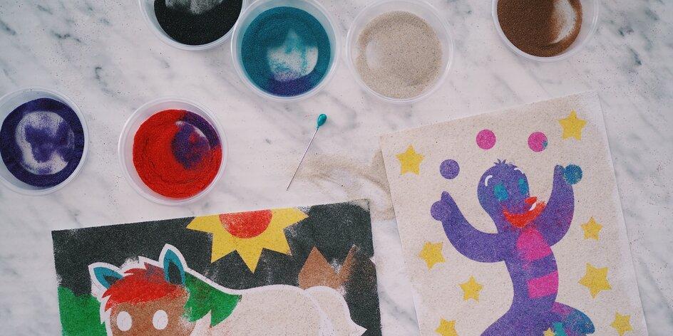 Vyzkoušejte s dětmi pískování. Otestovali jsme kompletní sady na tvorbu písečných obrazů