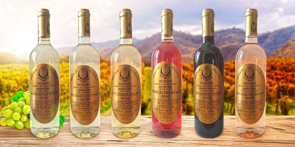 Set prémiových kvalitních vín z Vinařství Hlávka