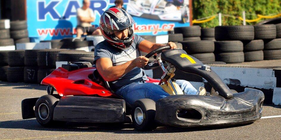 Pořádná jízda: 14 min. v motokáře pro 1 osobu