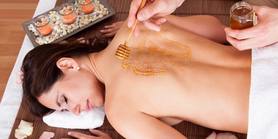 Celotělová masáž: sportovní, čokoládová či s medem