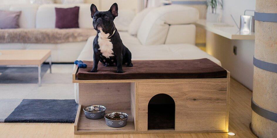 Psí bouda do bytu ve 3 barvách, i matrace