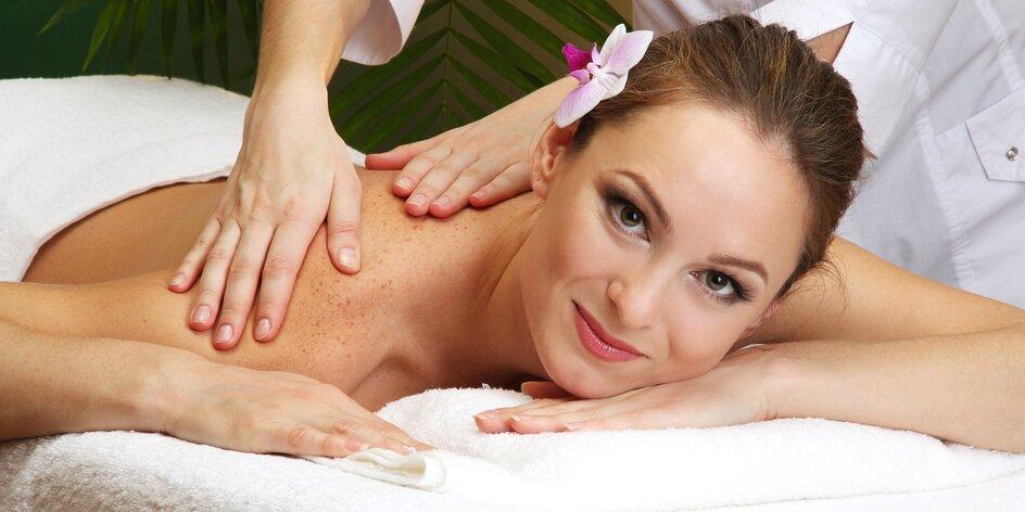 Baňkování, kraniosakralní terapie a aroma masáž