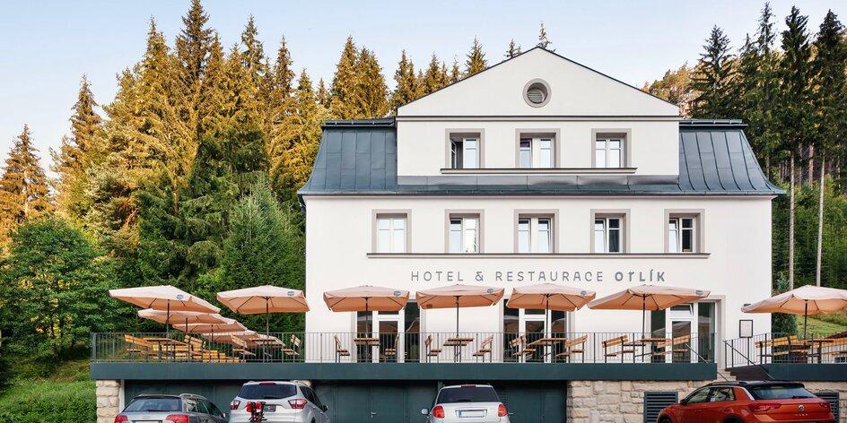 Krásný hotel u Adršpachu se snídaněmi