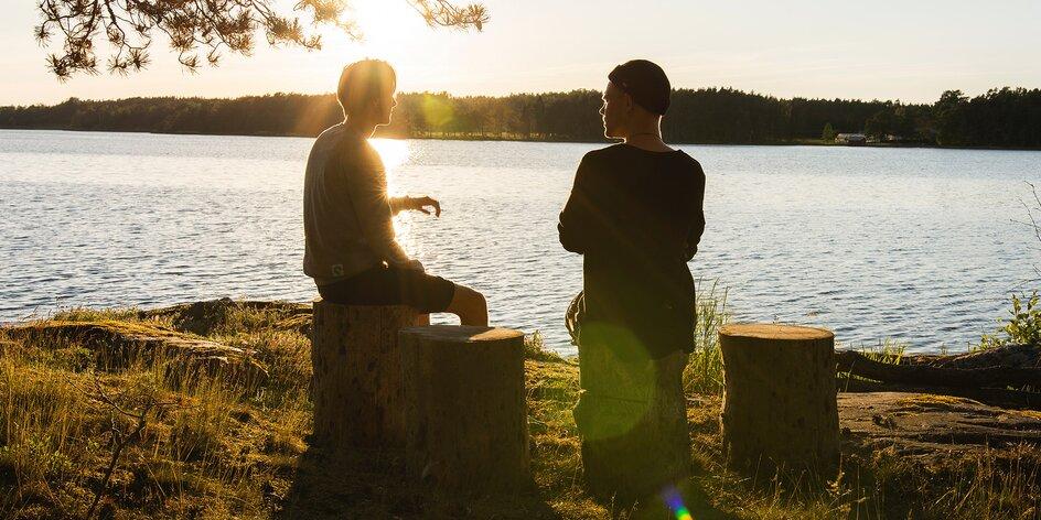 Lekce anglické konverzace v kavárně nebo v přírodě