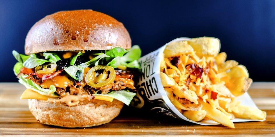 Burger menu s hranolky i Coca-colou