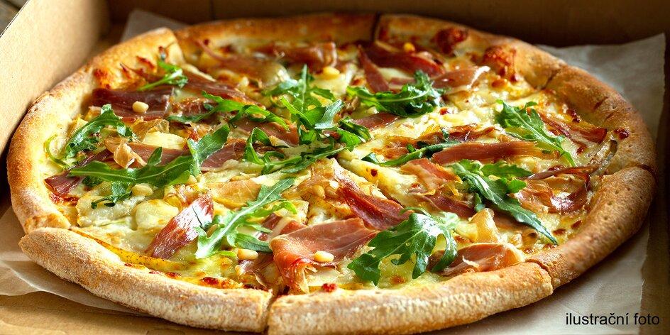 Dvě pizzy o průměru 32 nebo 45 cm s rozvozem