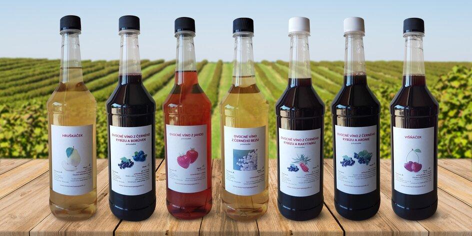 Svěží ovocná stáčená vína: višeň, jahoda i rybíz