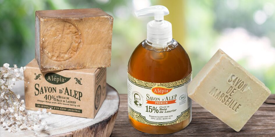 Marseillská i tradiční či luxusní aleppská mýdla