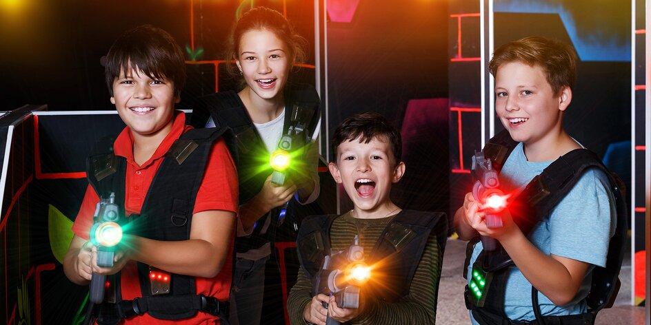 Napínavá laser game v aréně u Bořislavky
