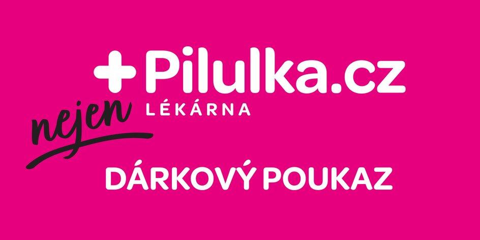 Dárkový poukaz do e‑shopu Pilulka.cz: 500–2000 Kč
