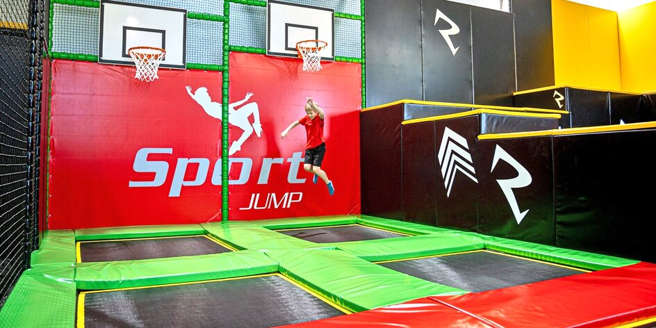 90 minut skákání či wellness ve Sport Jump aréně