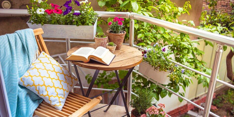 Jaké rostliny pěstovat na balkoně a jak mech zútulní váš domov