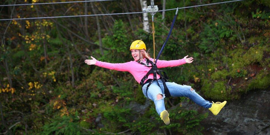 Adrenalinové dárky: zip line, skákání i big swing