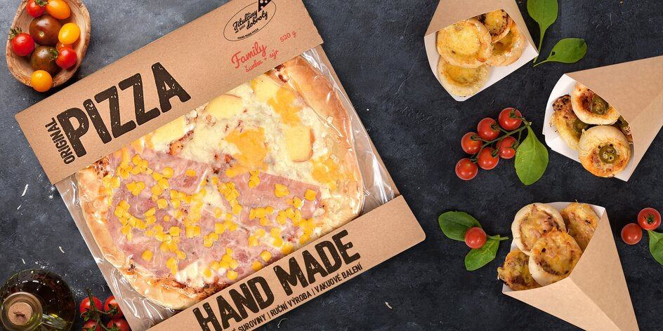Balení čerstvých a chlazených pizz s dopravou domů