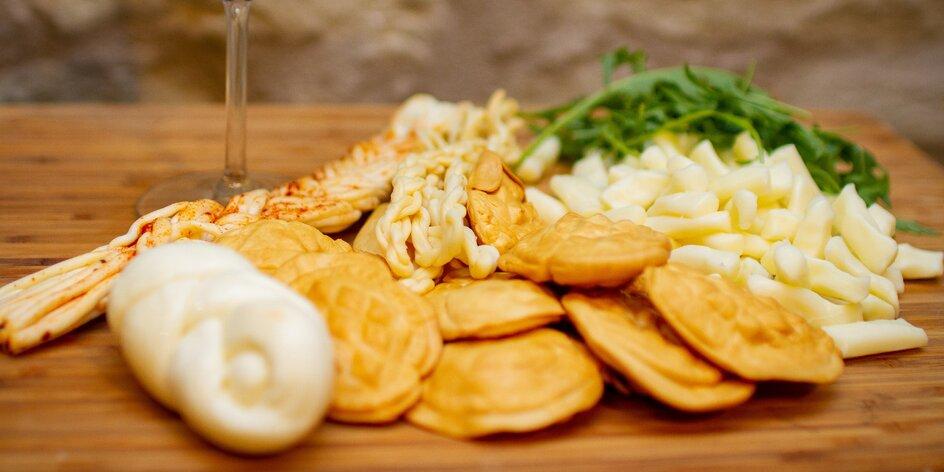 Grilovací i degustační balíček plný sýrů