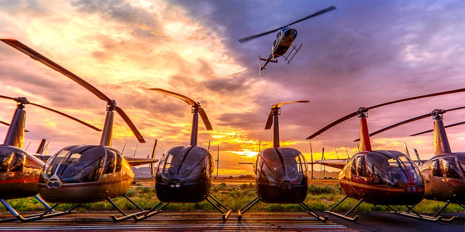 Vyhlídkový let vrtulníkem pro 1 nebo 3 osoby