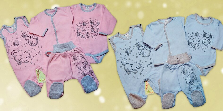 Dárkové sady oblečení nebo overaly pro miminka