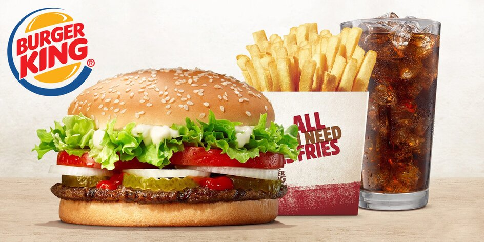 Burger King: XXL Whopper Menu nebo Chicken Box