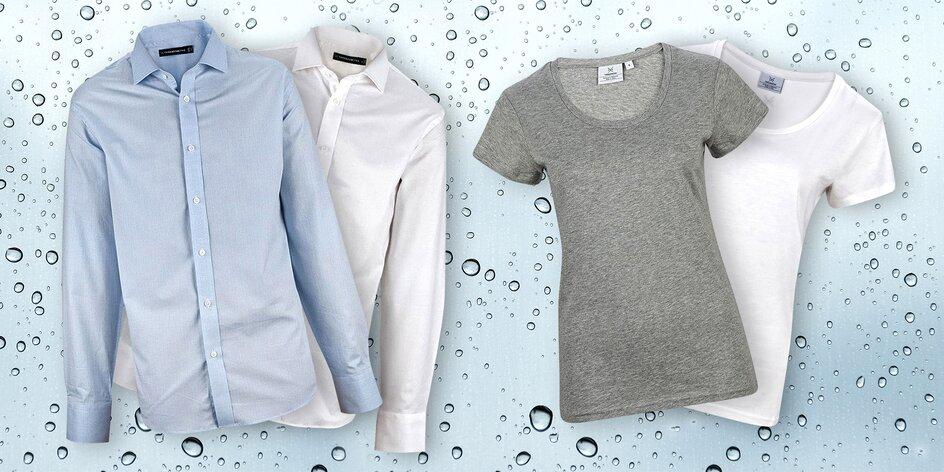 Trička a košile, které zůstanou čisté a suché