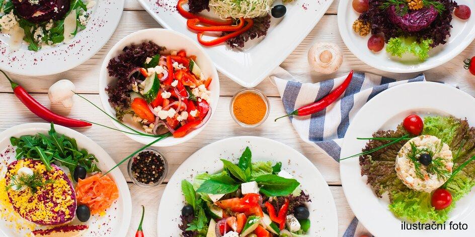 Vegetariánské 5chodové menu all you can eat