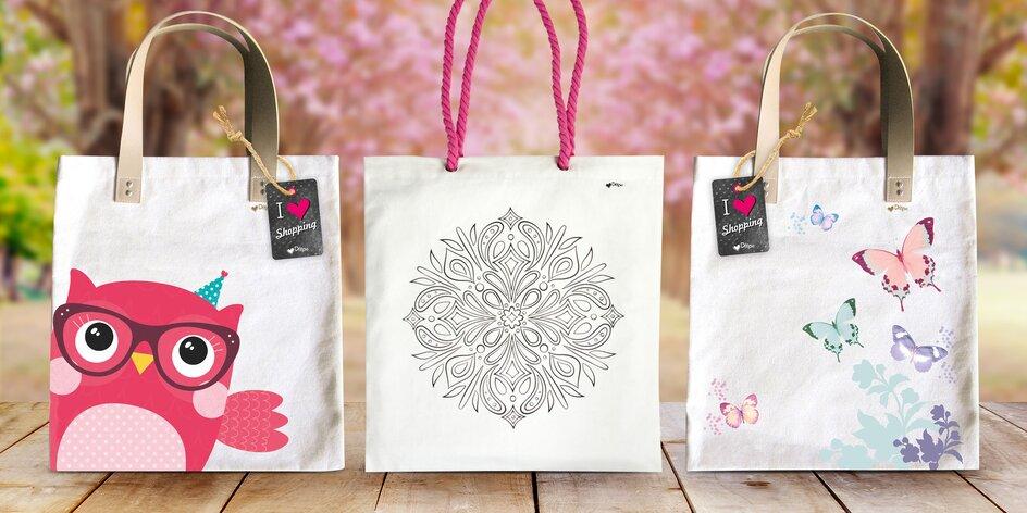 Letní bavlněné tašky s veselými designy