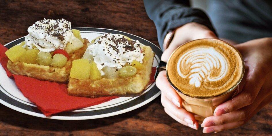 Káva a wafle pro dva v srdci Prahy