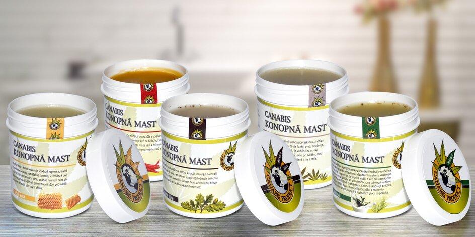 Česká konopná mast: čistá i s bylinkami a chilli