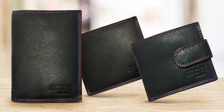 Kvalitní kožené peněženky Sanchez s prošitím