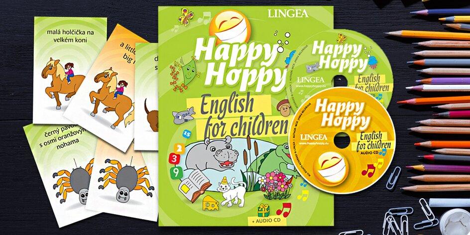 Angličtina pro děti: kniha, CD a obrázkové karty