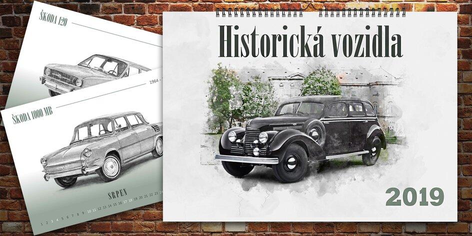 Nástěnný kalendář formátu A3: Historická vozidla