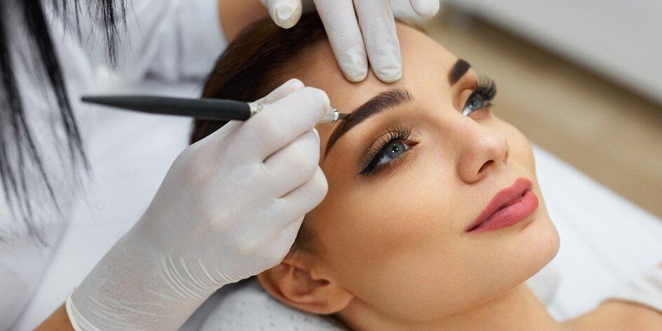 Permanentní make-up obočí podle výběru