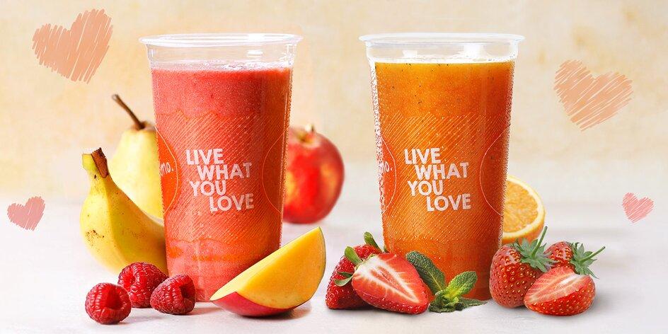 2× 0,5l valentýnský drink Fruitisimo plný zdraví