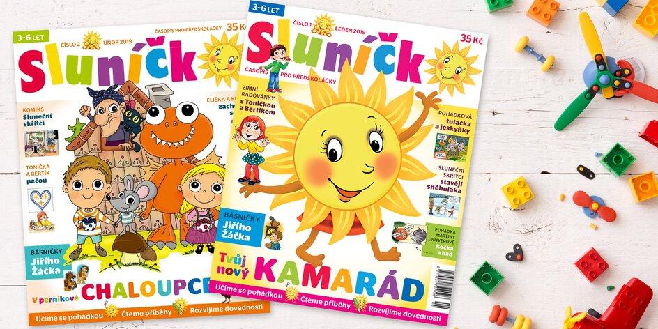 Roční předplatné dětského časopisu Sluníčko