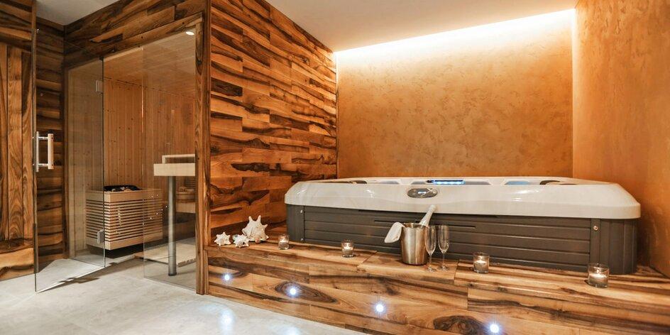 Krásné apartmány s privátním wellness a večeří