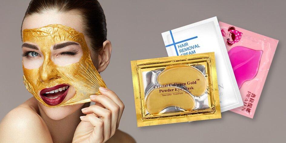 Pleťové masky na rty i oči i depilační krém