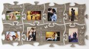Fotorámeček ve tvaru puzzle: 8 fotografií