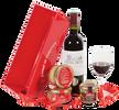 Dárkové degustační koše: teriny, víno i čokoláda