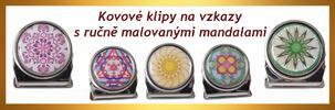 Magnetické klipy se 12 ručně malovanými mandalami