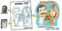 Karikatura podle fotky: kresba tuší i digitální