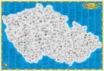 Stírací mapa České republiky nebo golfových hřišť