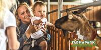 Dárky z Farmaparku: rodinná permanentka a plyšáci