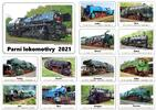 Nástěnné kalendáře s obrázky historických strojů
