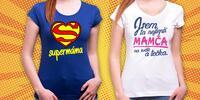 Bavlněná trička s vtipným nápisem pro všechny mámy
