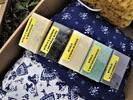 Dárková sada: 2× pohankový polštářek s levandulí, houba a 5 malých mýdel