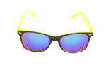 Černo-žluté brýle Kašmir Wayfarer W24 - modrá zrcadlová skla