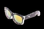 Černo-bílé brýle Kašmir Wayfarer W31 - oranžová zrcadlová skla