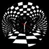 Stylové hodiny vyřezané z gramofonové desky