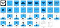 Milníkové karty - první rok života (modrá)