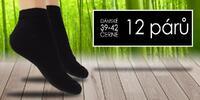 12 párů pánských nebo dámských ponožek s bambusem
