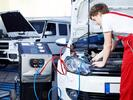 Plnění klimatizace a dolplnění oleje v kompresoru